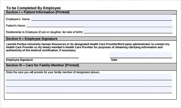 Sample Fmla Form 10 Free Documents In Pdf