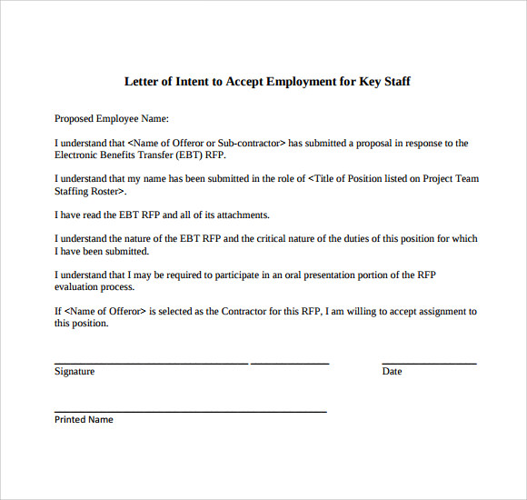 Letter of Intent for a Job - 9+ Download Free Documents in PDF , Word
