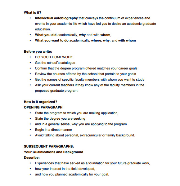 Letter Of Intent Graduate School   Download Documents In Pdf Word