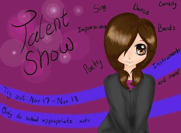 school talent show flyer