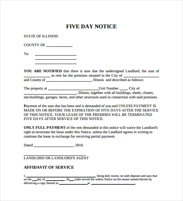 rent overdue notice