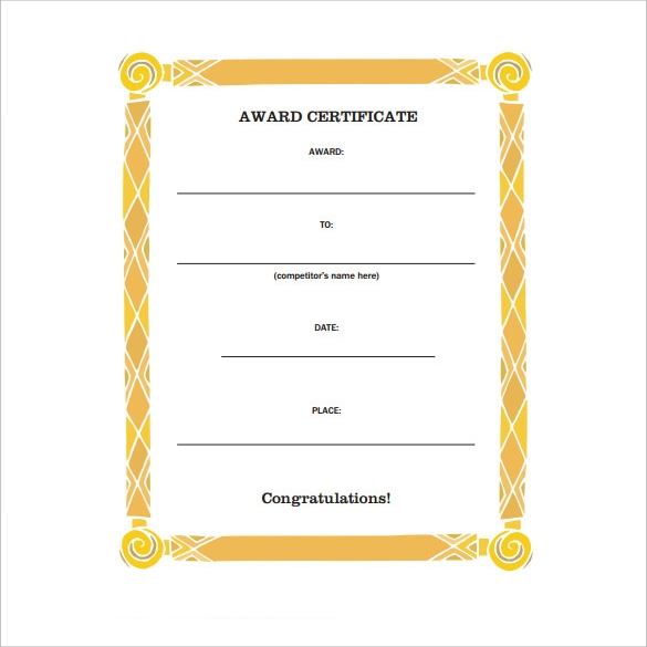 FREE 20+ Sample Congratulations Certificate In PDF | Word ...