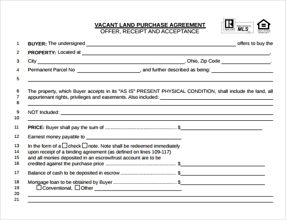 Land Purchase Agreement Templates  Download Free Documents In Pdf