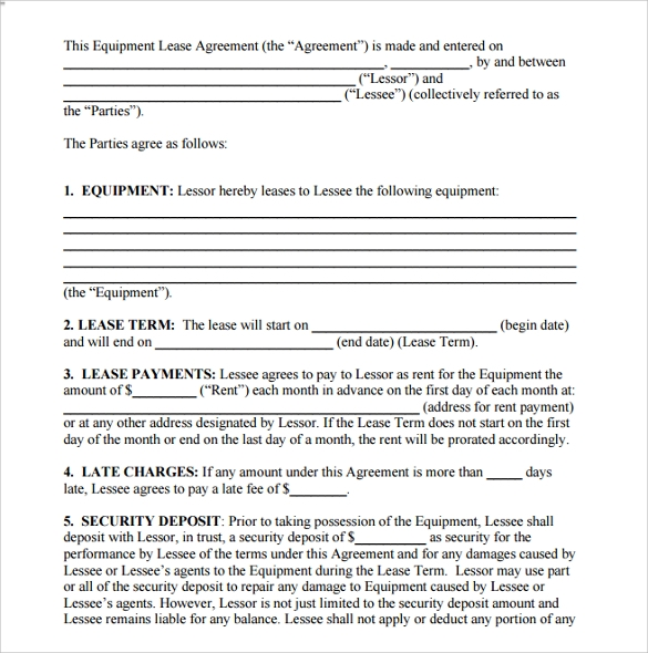 Sample Room Lease Agreement Template    Free Documents In Pdf