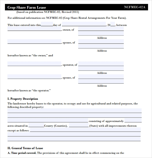 basic land lease agreement template1