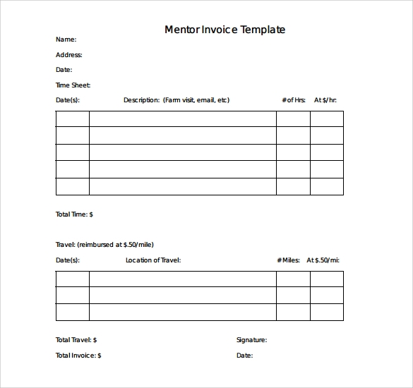 10 Simple Invoice Templates To Download Sample Templates