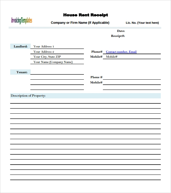 9 sample rent invoice templates to download
