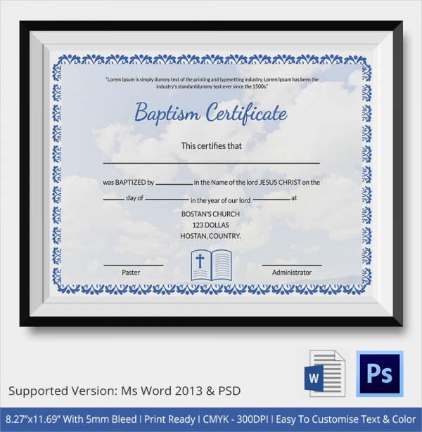 vacation certificate template