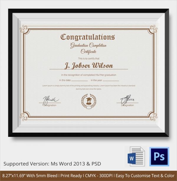 valedictorian award certificate template - 23 congratulations certificate templates sample templates