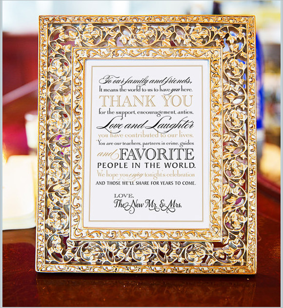 printable wedding thank you note for guests