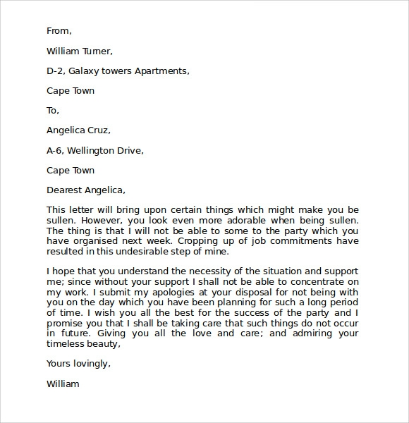 apology letter for mistake to girlfriend