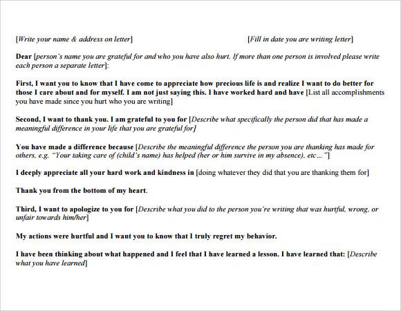 Thank You Letter To Ex Boyfriend Images Letter Format Formal Sample