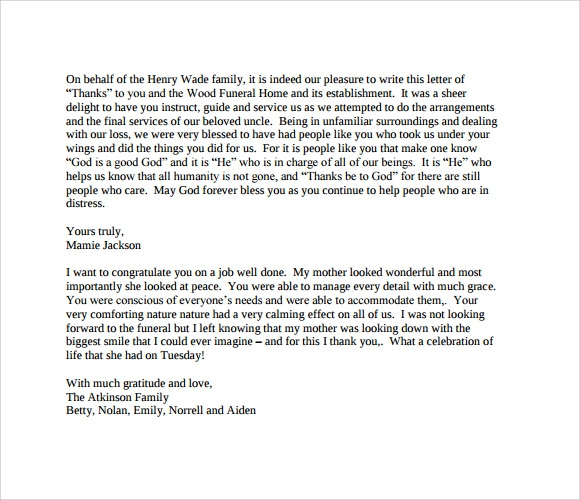 11 funeral thank you notes download documents in pdf psd