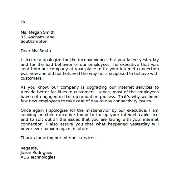 formal apology letter 7 download free documents in pdf