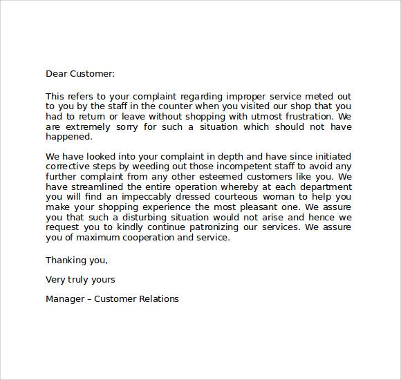 Customer apology letter sample akbaeenw customer apology letter sample spiritdancerdesigns Choice Image