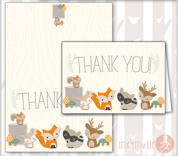 baby shower thank you notes download documents in pdf psd sample