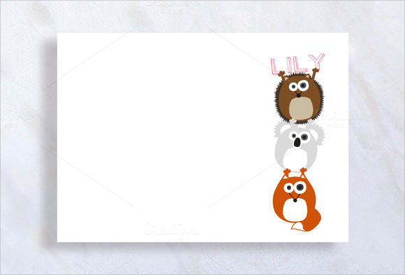 baby shower thank you notes download