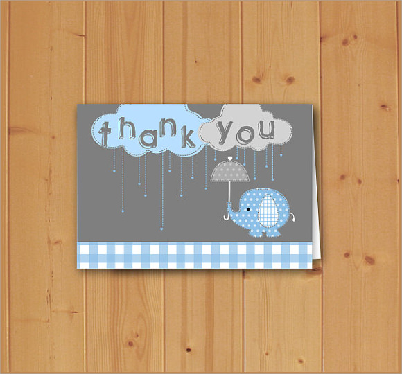 baby shower thank you note template