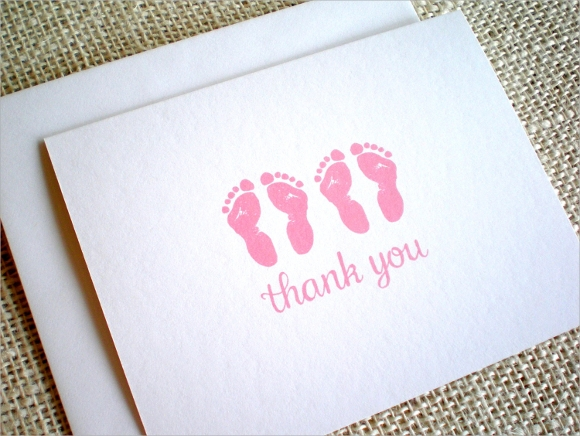 baby girl twins thank you notes