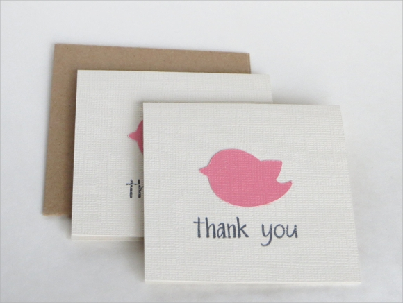 girl baby shower thank you card