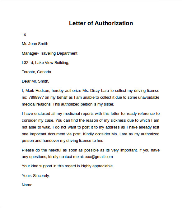 Letter Of Authorization To Represent A Company from images.sampletemplates.com