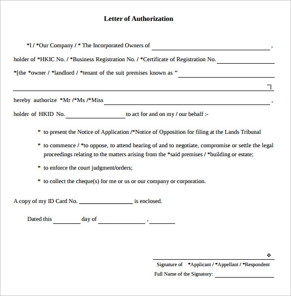 letter of authorization pdf