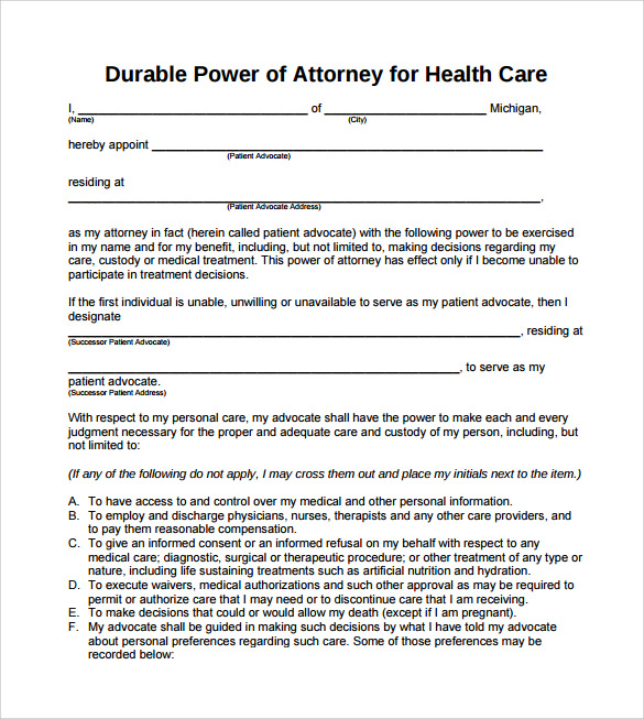 Sample Blank Power Of Attorney Form - 10+ Download Free Documents