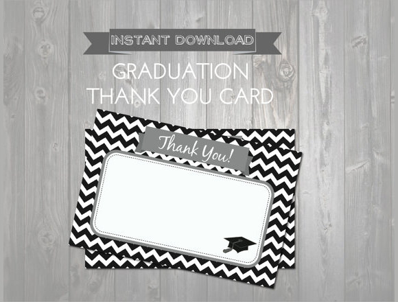printable graduation thank you notes