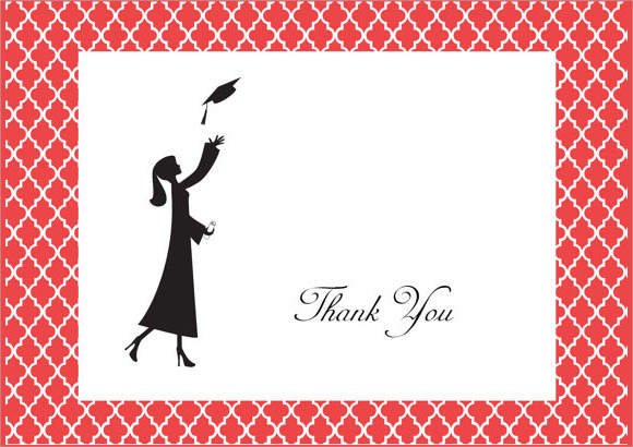 Sample Graduation Thank You Notes  Psd Vector Eps