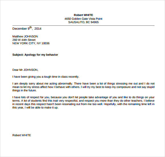 Apology essay to teacher Write my paper apa – Sample Apology Letter to Parents