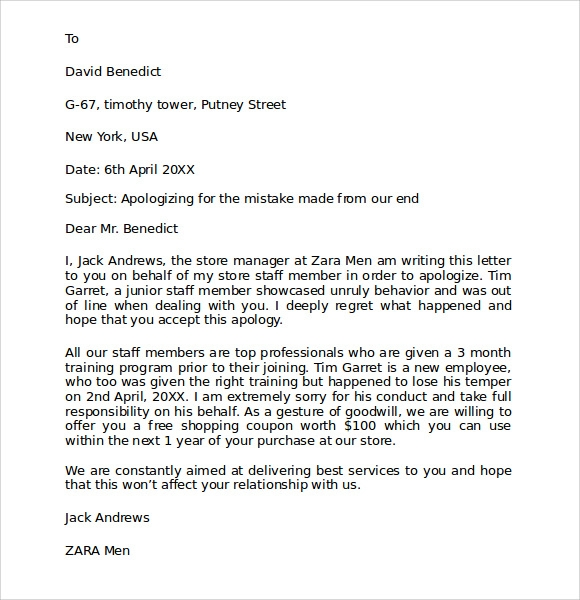 business apology letter 7 download free documents in pdf word