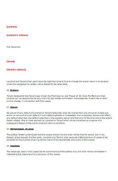 blank lease rental agreement in ms word