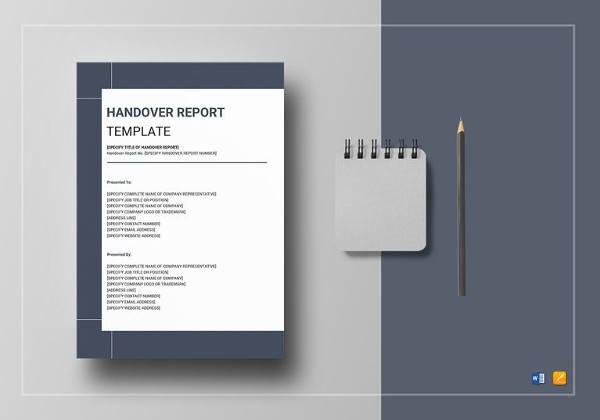 14 Sample Handover Reports