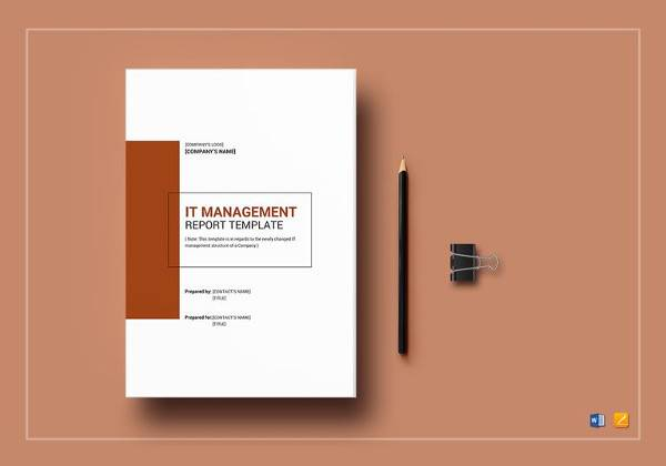 it management report template to edit