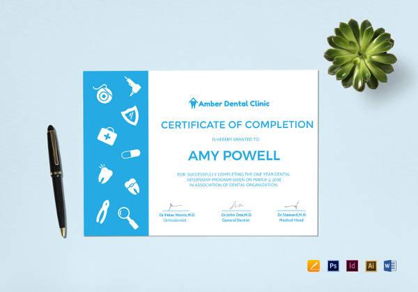 medical internship certificate