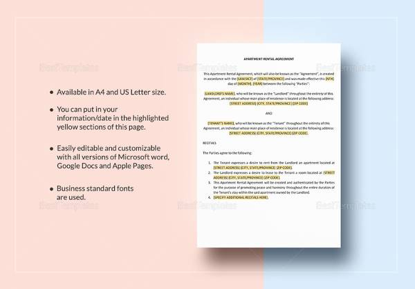 Room Rental Agreement 17 Download Free Documents In PDF WORD