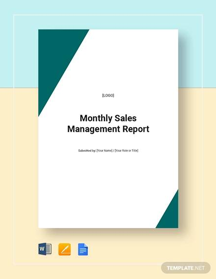 montly sales managemnet