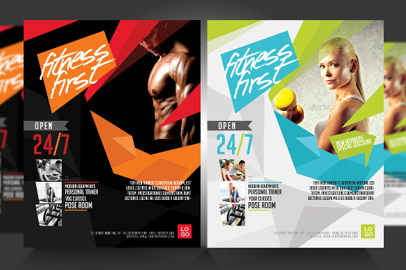 fitness gym flyer