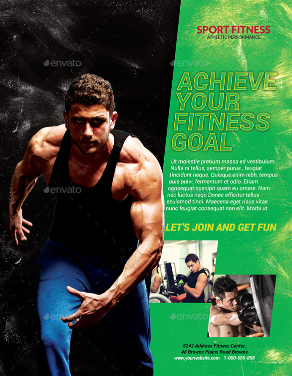 sample fitness flyer
