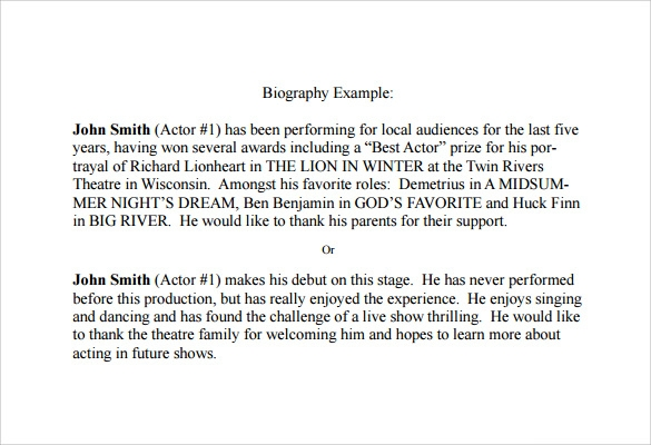 sample biography example