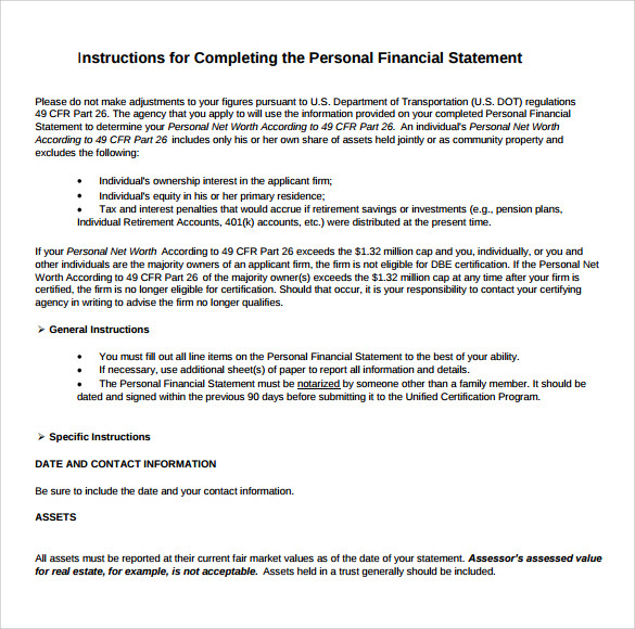 form 413 personal financial statement instructions Pfs for confidential page 1 of 3 personal financial statement bank: you may apply for an extension of credit individually or jointly with another applicant.