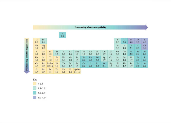 Sample Electronegativity Chart Template - 13+ Free Documents In