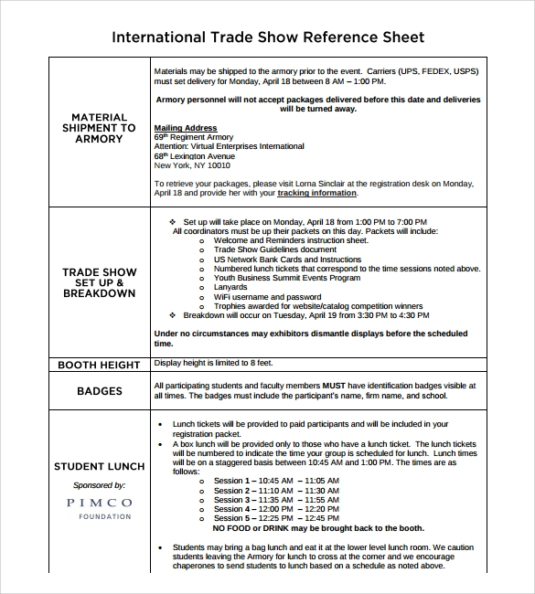international trade dsheet