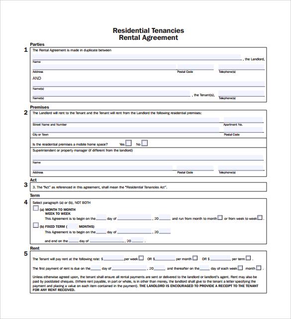 rental agreement pdf template