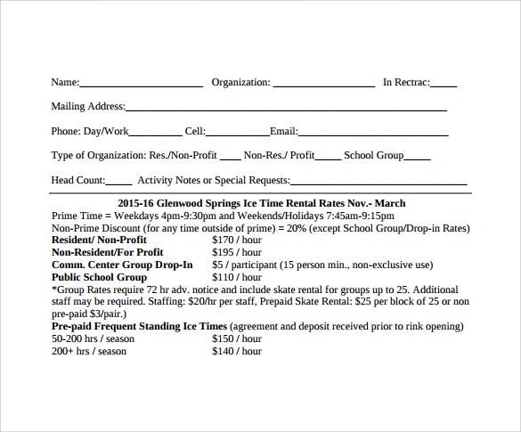 blank rental agreement to print