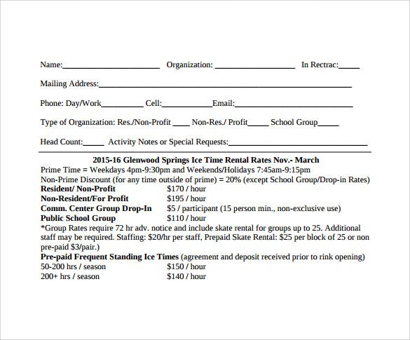 blank rental agreement  u2013 7  free samples  examples  u0026 formats