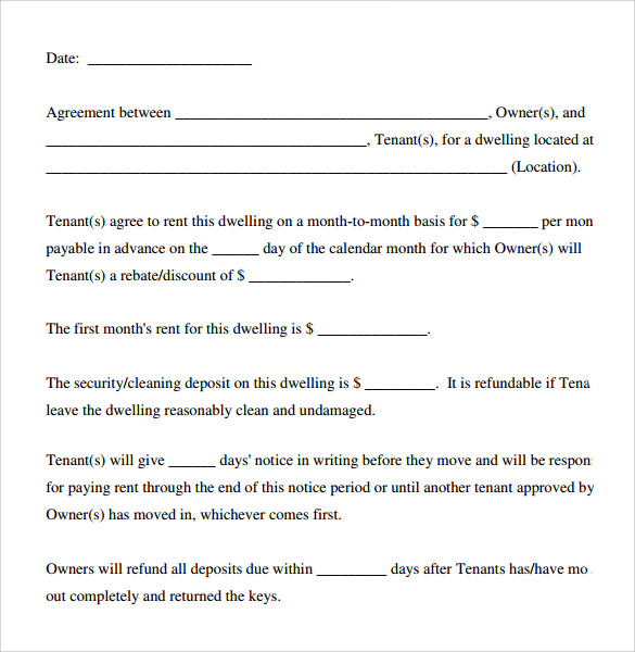 basic rental agreement download in pdf