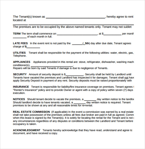 rental agreement in pdf