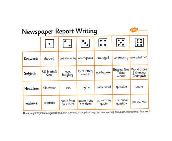 sample newspaper report writing best photos newspaper report – Report Writing Format Download