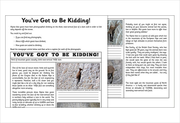 editable newspaper report template0a